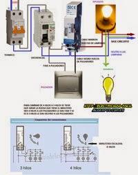 Como conectar minutero de escalera de 4hilos diferencial magnetotermico
