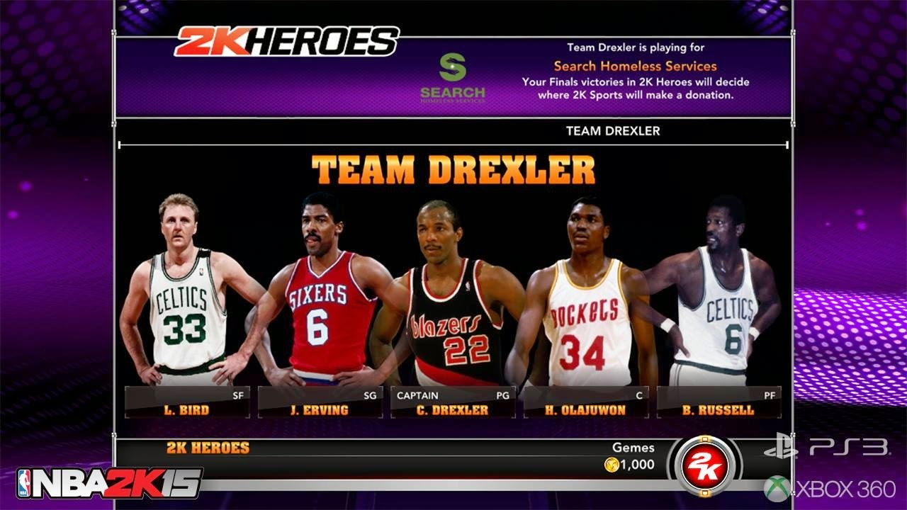 Team Drexler - NBA 2K15 2K Heroes Mode