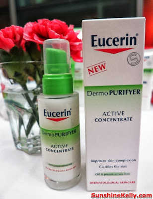 skincare, eucerin, pimples oily combination skin, review, Eucerin DermoPURIFYER Active Concentrate