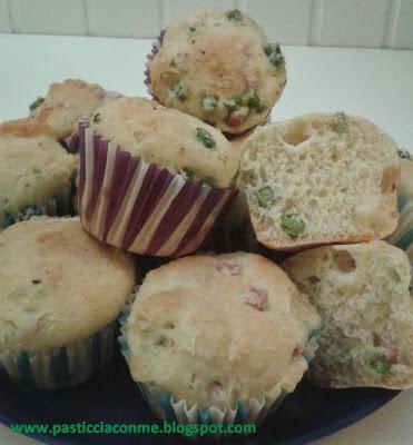 muffins piselli e prosciutto