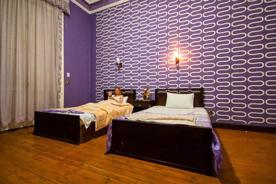 tágas szobánk a Cairo Paradise-ban