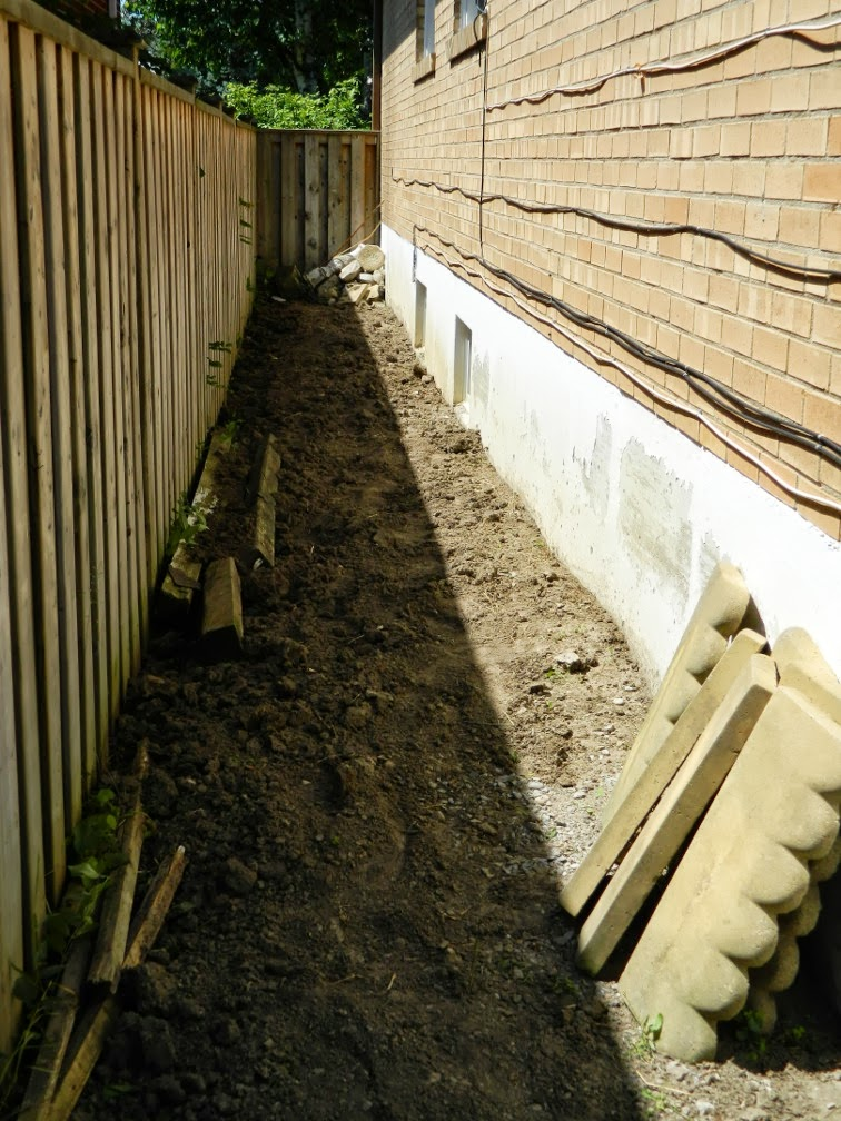 Scarborough Toronto side yard garden clean up after by Paul Jung Gardening Services