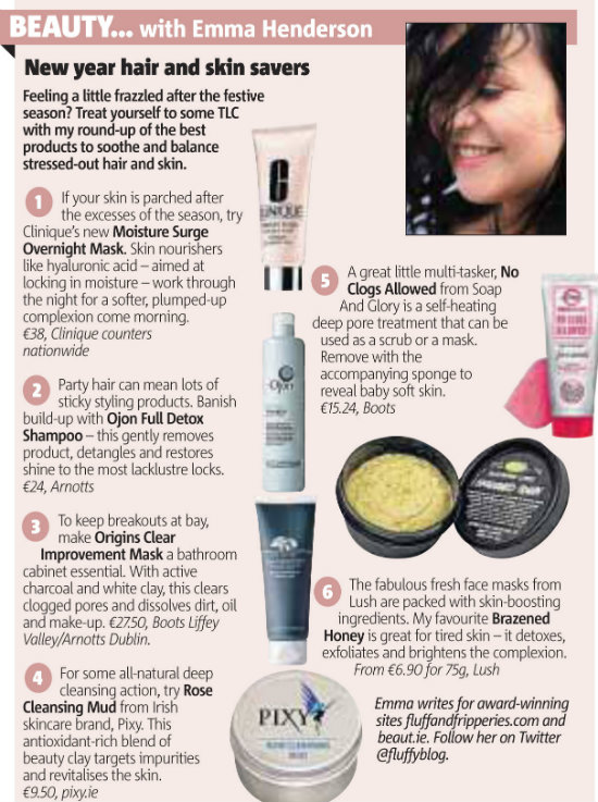 Emma Henderson Beauty Column in Metro Herald