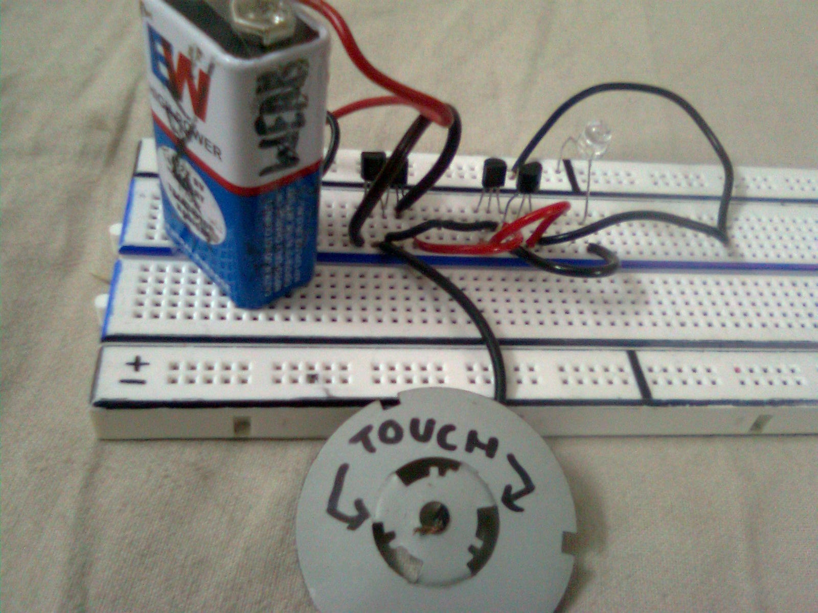Electronix Darlington Pair Touch Sensor Basic Electricity And Electronics Transistor Pairs
