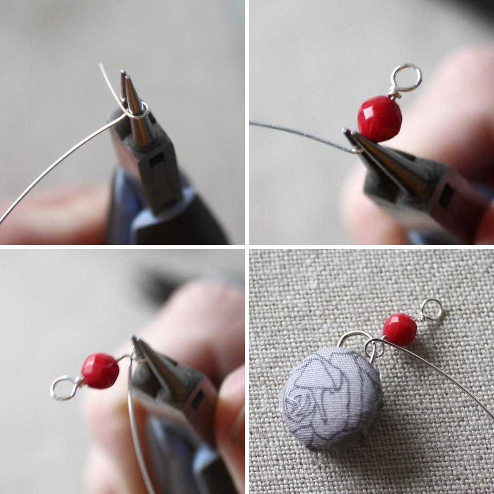 Button Earrings: Tuesday Tutorial: Dangle Fabric-Covered Button Earrings