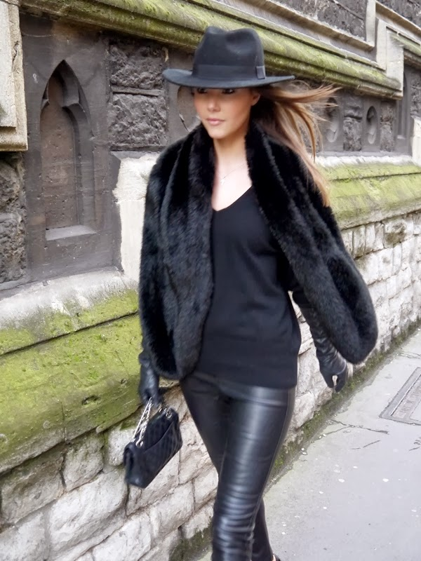 Fedora, Chanel Handbag, Leather Leggings, Mayfair