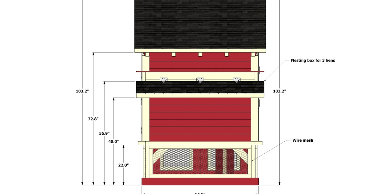8 x 12 chicken coop plans free diy chicken coop from plans