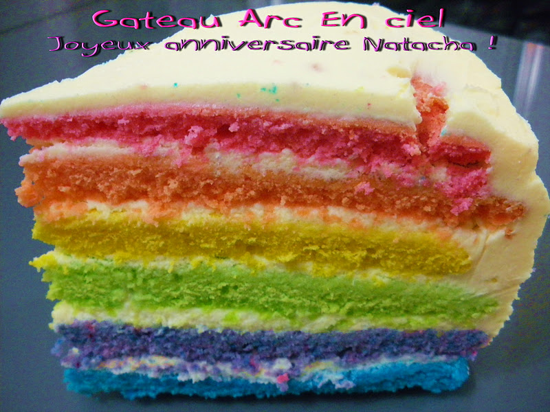 Gateau gaga love cakes gateau d 39 anniversaire arc en ciel pour ma chacha - Gateau arc en ciel thermomix ...