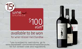 WineOnline $100 eGfit Card Winter Picks Contest