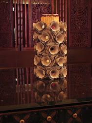 ...Flower vase made from egg cartons...