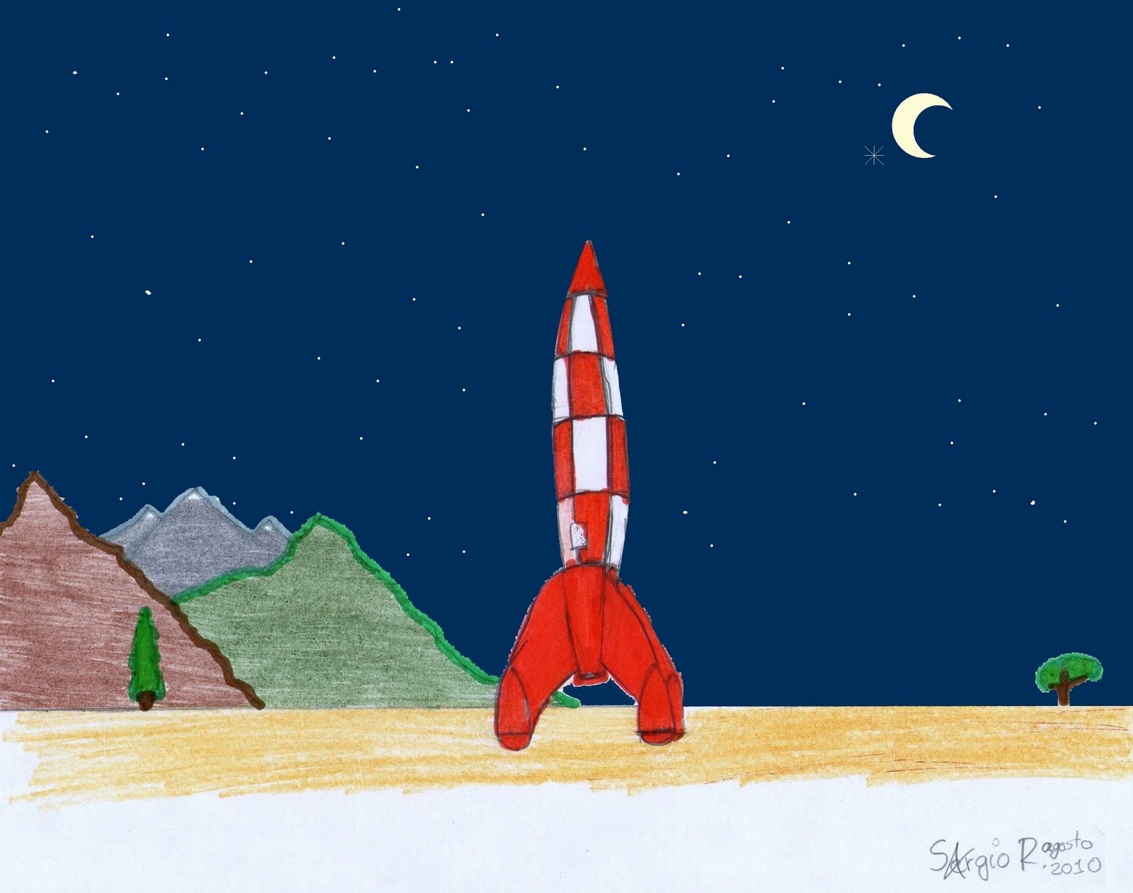 Bonito Dibujo De Cohete De Entrepierna Colección - Ideas Para ...