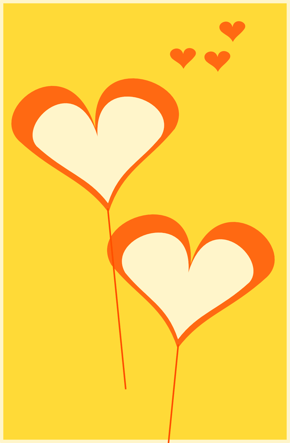 balloon hearts card