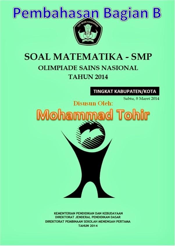 Soal dan Pembahasan OSN Matematika SMP Tingkat Kabupaten/Kota 2014