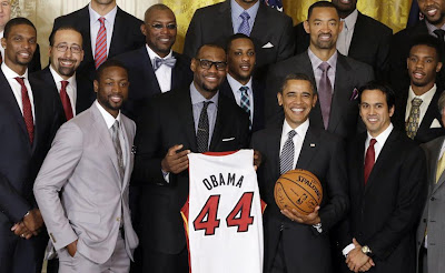 Barack Obama with NBA Group