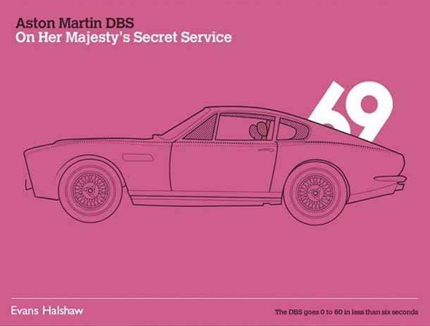 Carros James Bond - 007 - Aston Martin DBS - On Her Majesty's Secret Service