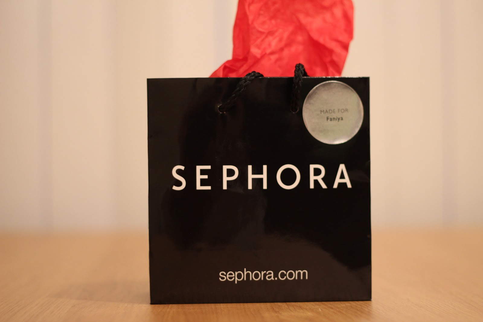 Unique Wedding Gifts In Calgary : received a personalized gift bag with Sephora gift card in a pretty ...