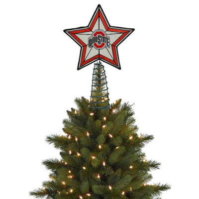 Ohio State Buckeyes tree topper