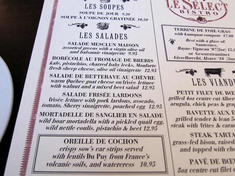 French Bistro Food Menu The meal i had at this place