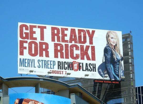 Ricki and the Flash movie billboard