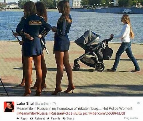 Decreto proíbe Policiais russas de usarem uniformes muito sexy