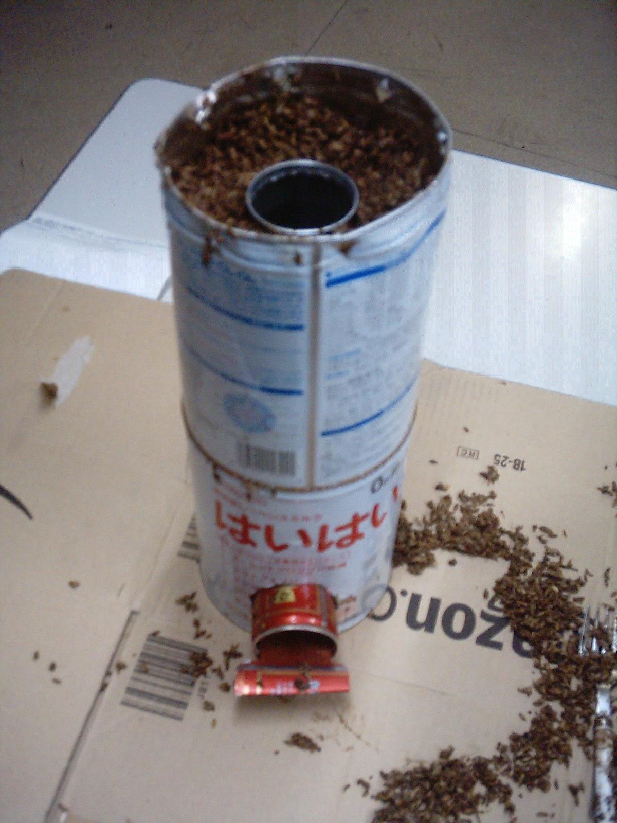 My corner of japan mini rocket stove for Small rocket heater
