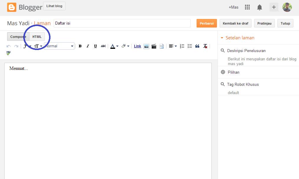 Membuat Daftar Isi Blog Keren Otomatis dan responsive