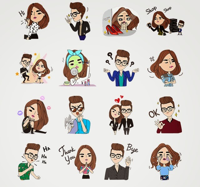 Zalora: Miss Z & Mr. Z stickers