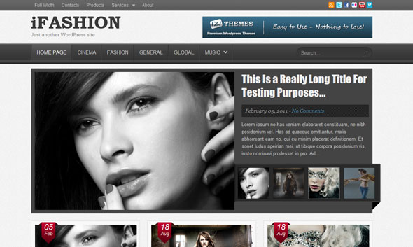 iFashion magazine Wordpress Theme Free Download by IziThemes.