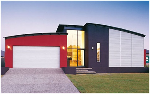 RED MODERN HOUSE FRONTS BEAUTIFUL FACADES