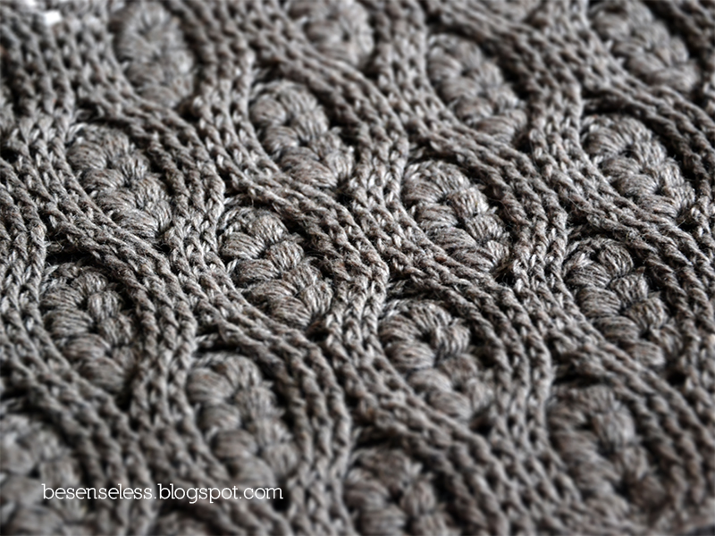 Crocheting Cables : Puff stitch and crochet cables Airali