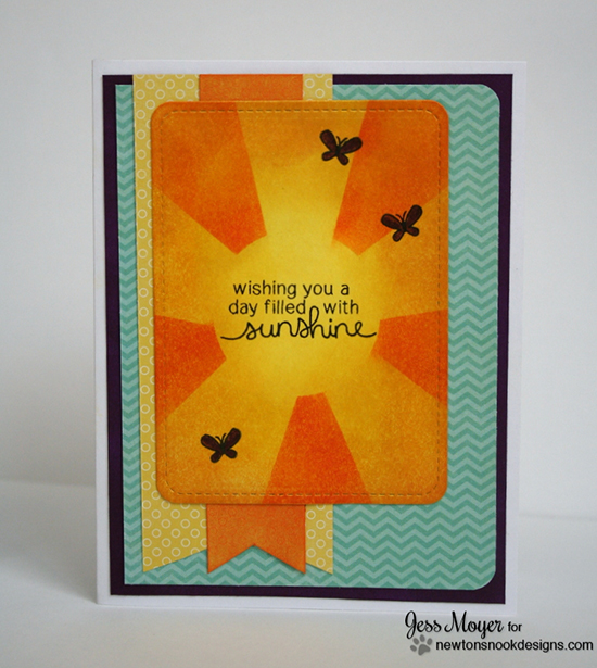 Rays of Sunshine card by Jess Moyer for Newton's Nook Designs | Newton's Daydream stamp set