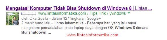 Cara Submit Artikel Blog ke Google Webmaster