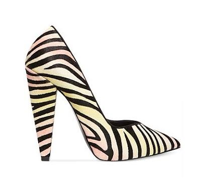 Steve Madden zebra print chunky heeled pumps