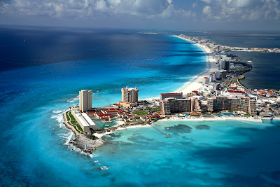 Mexico travel - Cancun View From Above Beach