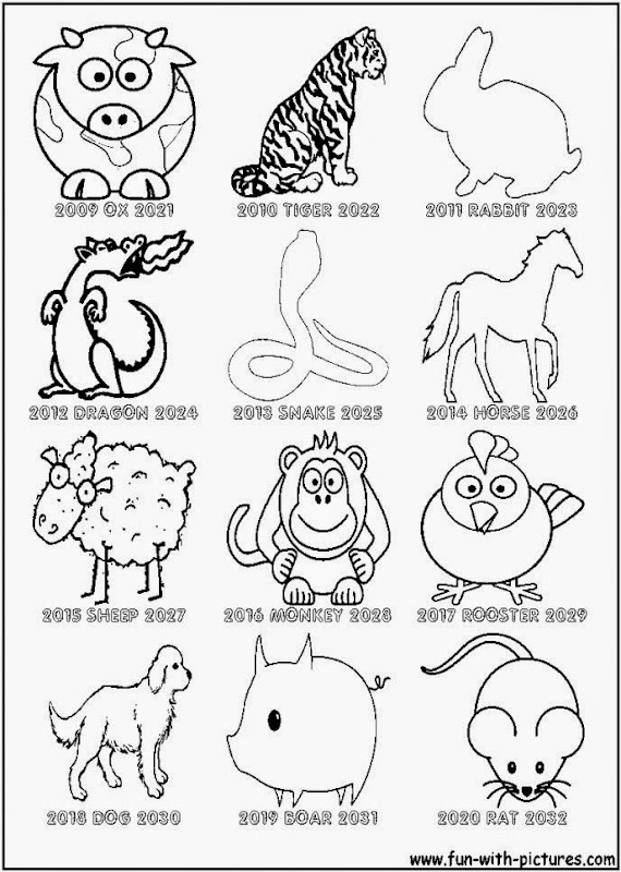 Apples4theteacher Coloring Pages : Chinese new year coloring sheets free sheet
