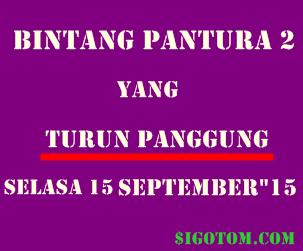 Bintang pantura 2 yang turun panggung dan tereliminasi selasa 15 september 2015