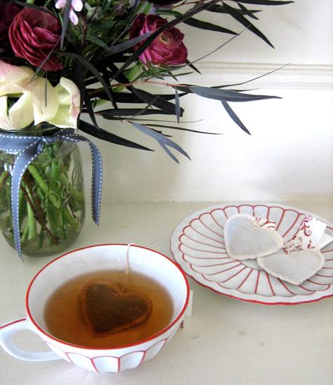 Чайные пакетики в виде сердца