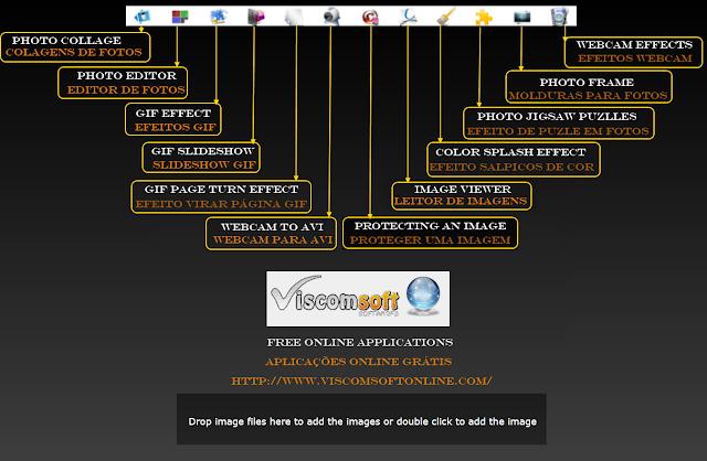 Interface e aplicações da ViscomSfot online
