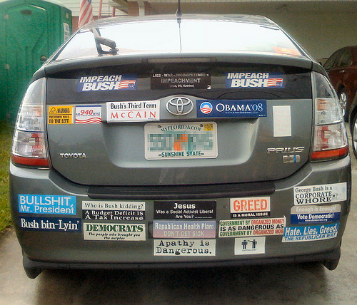 Beers with Demo: The average number of bumper stickers on ...