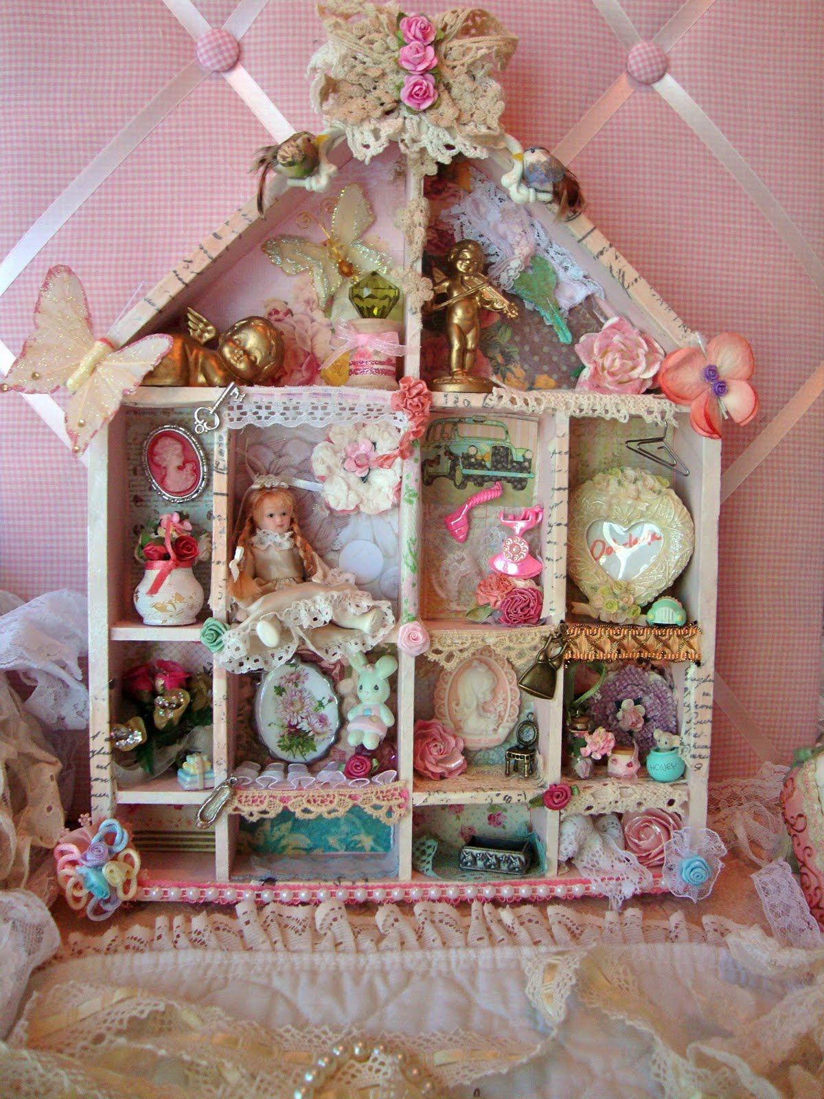 shabbychicjcouture my shabby chic shadow box. Black Bedroom Furniture Sets. Home Design Ideas
