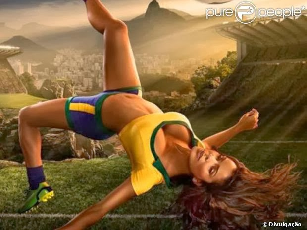 Bianka Fernandes representa o Brasil em calendário da Copa