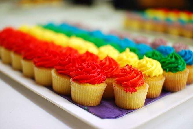 Australasian College Mardi Gras Rainbow Cupcakes Food