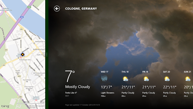 Windows 8 Weather & Map