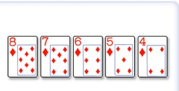Straight Flush,(Pet karti unizu iste boje)