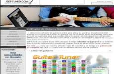 Afinador de guitarra y otros instrumentos musicales online