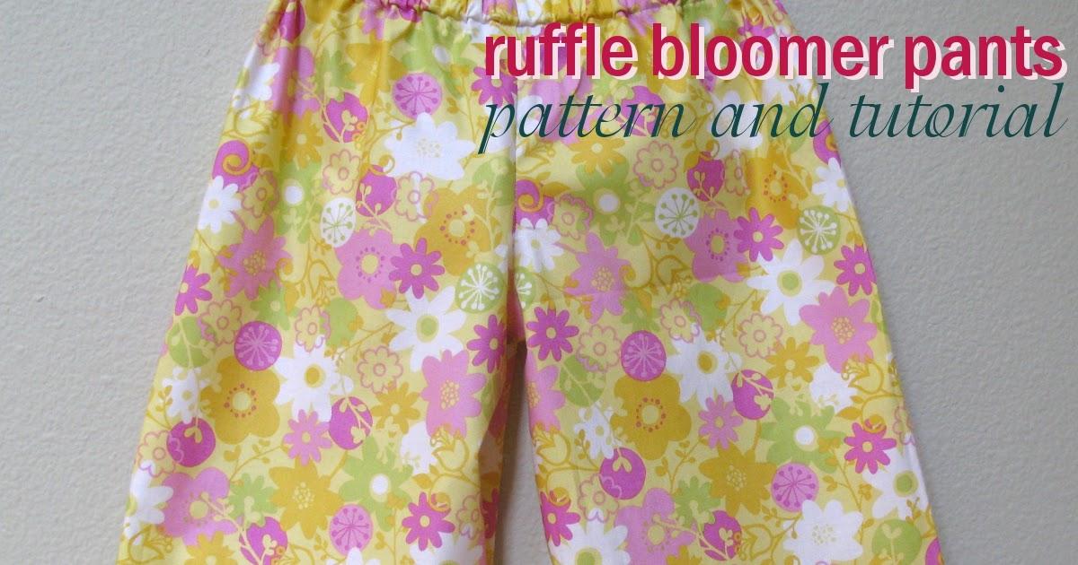 Ruffle Bloomer Pants Pattern and Tutorial