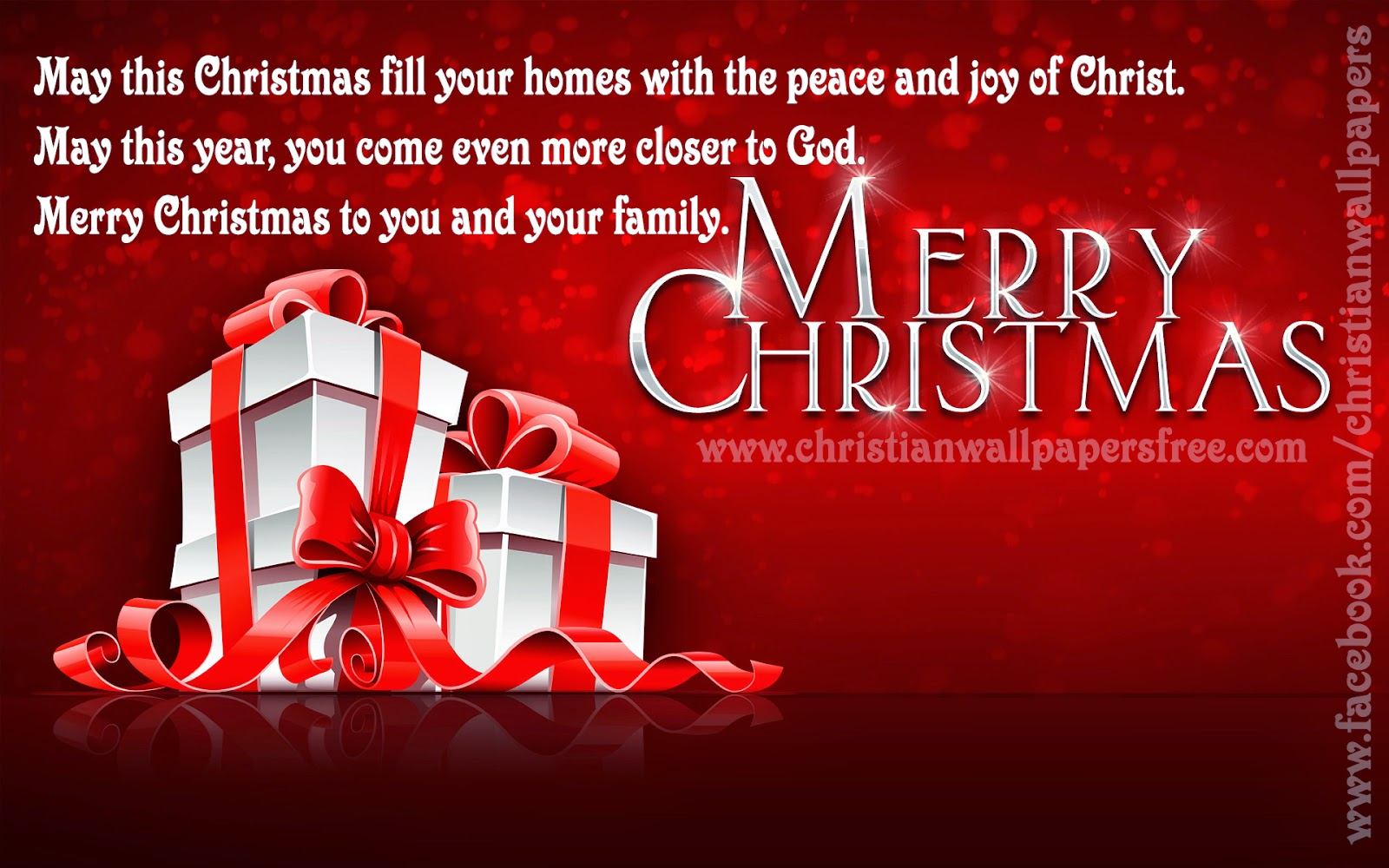 May This Christmas Fill Your Home With The Peace And Joy Of CHRIST.