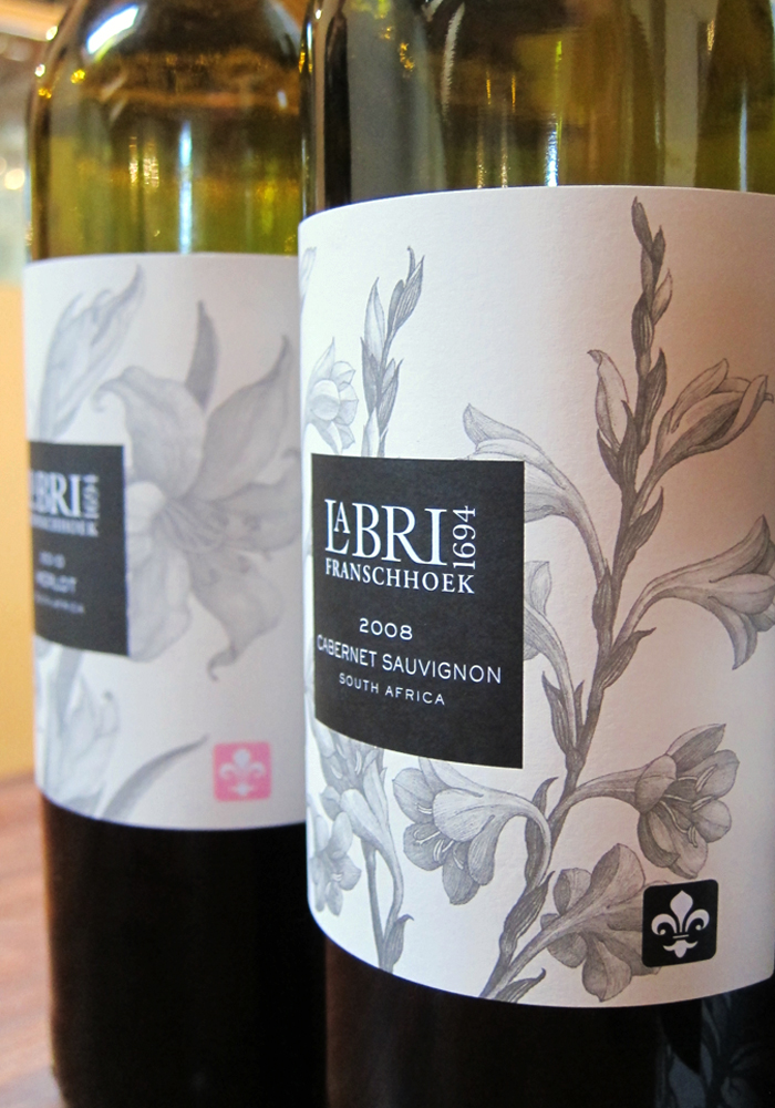 La Bri Wine label design, South Africa