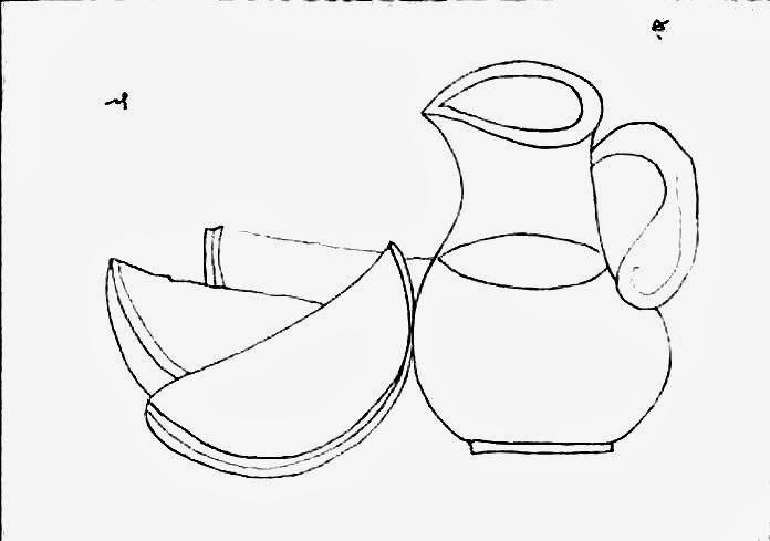 desenho de jarra de suco de melancia para pintar em semaninha de panos de copa