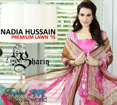 Nadia Hussain Premium Lawn 2015 Collection By Shariq Textile